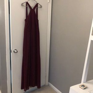 Lulus Air of Romance Burgundy Dress | Size Large